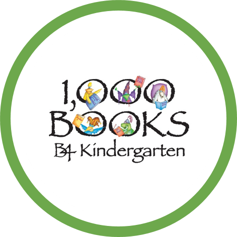 1000BooksB4K green circle logo